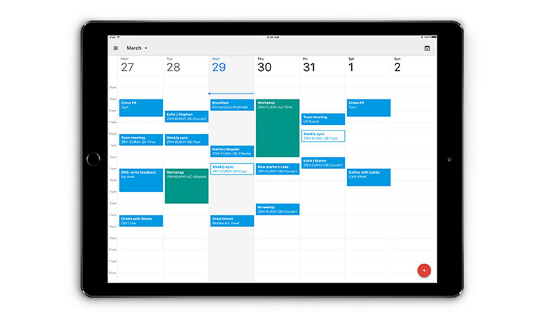 google calendar for sales team